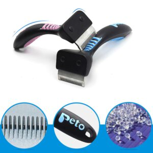 Pet Brush for Grooming with Pastel Detail