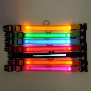 Dog LED Collar with Flexible Nylon