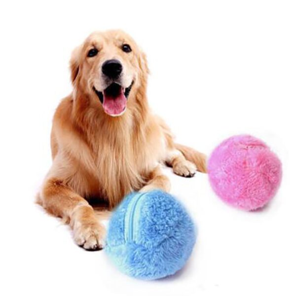 active plush chew ball for dogs