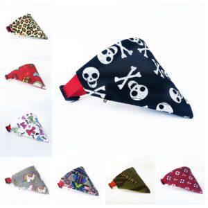 Dog Scarf Colorful Triangular Designs