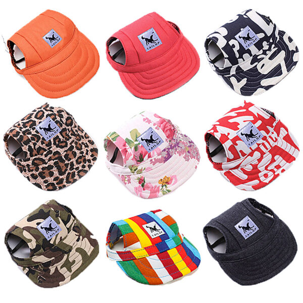 Dog Cap for Casual Use with Canvas Design