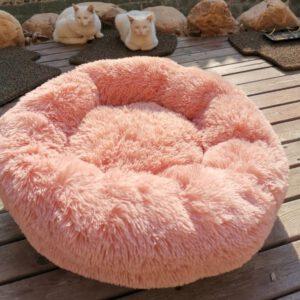 soft plush donut plush bed