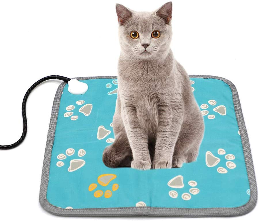 pressure sensitive cat heating pad, cat heating pad, cat heating mat, heated cat pad